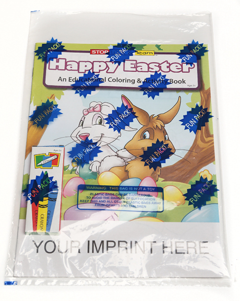 Imprinted Coloring Book Fun Pack