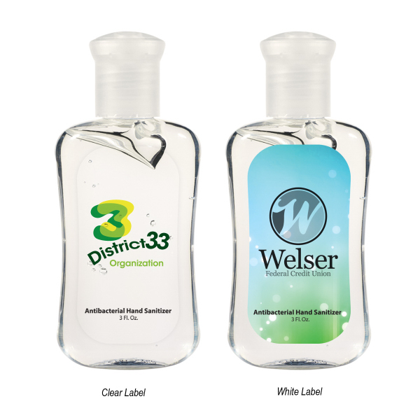 3 oz Hand Sanitizer in Fashion Bottle