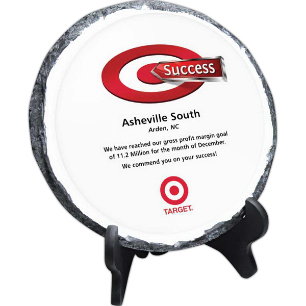 Round Digi-Color Stone Tablet with Easel Stand