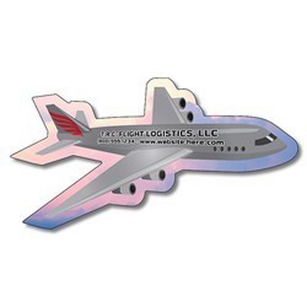 "Custom Magnet - Airplane Shape (3.8"" x 2"") - Outdoor Safe"