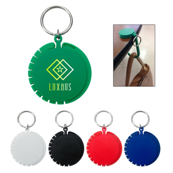 Promotional Purse Hook with Key Ring