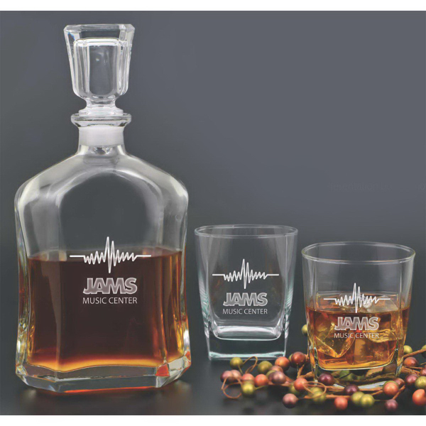 Patrician 3 Piece Decanter Set