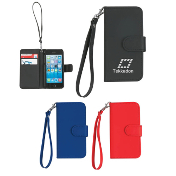 Promotional Case with magnetic close tab and strap for iPhone 5/5S
