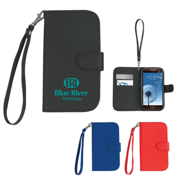 Personalized Case with magnetic close tab and strap for Samsung S3