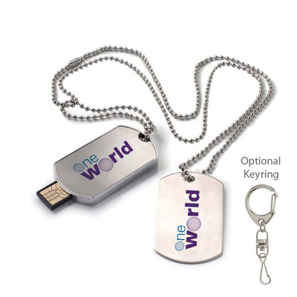 Dog Tag USB 2.0 Flash Drive