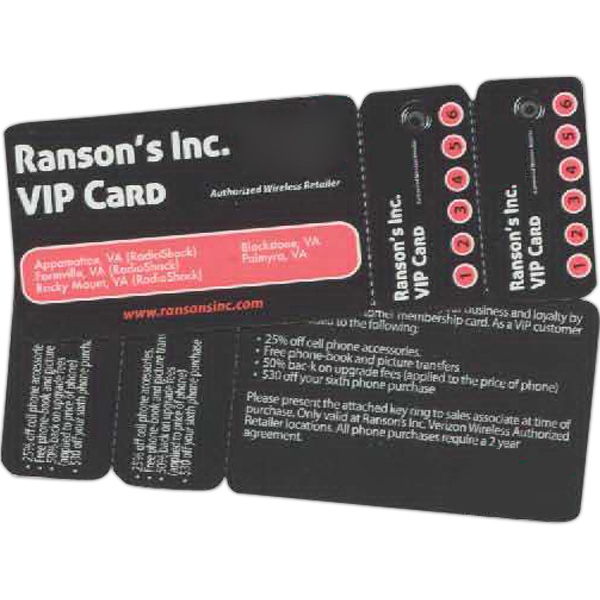 Promotional Membership Card with Two Key Tags