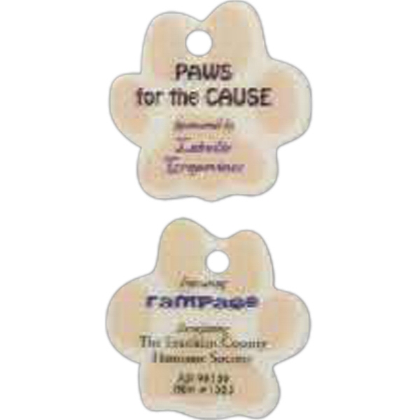 Customized Paw Shaped Pet Tag/Zipper Pull