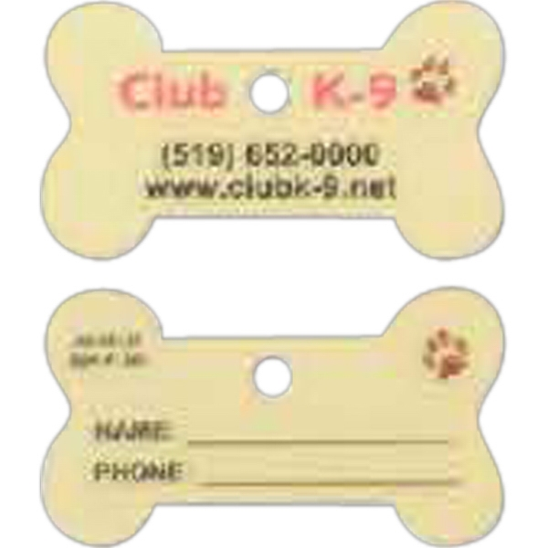Personalized Dog Bone Shaped Pet Tag/Zipper Pull