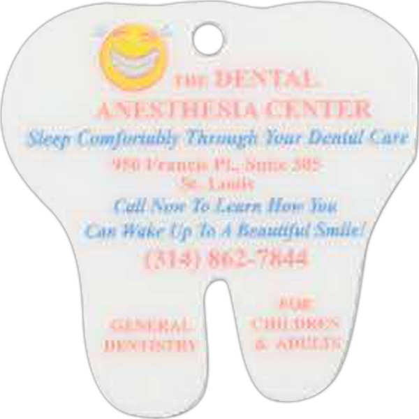 Printed Tooth Shaped Laminated Key Tag