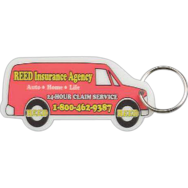 Custom Van Shaped Laminated Key Tag