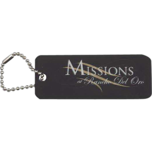 Imprinted Rectangle Shaped Laminated Key Tag