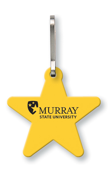 Custom Bag & Luggage Tag (Zipper Pull) - Large Star - Spot Color
