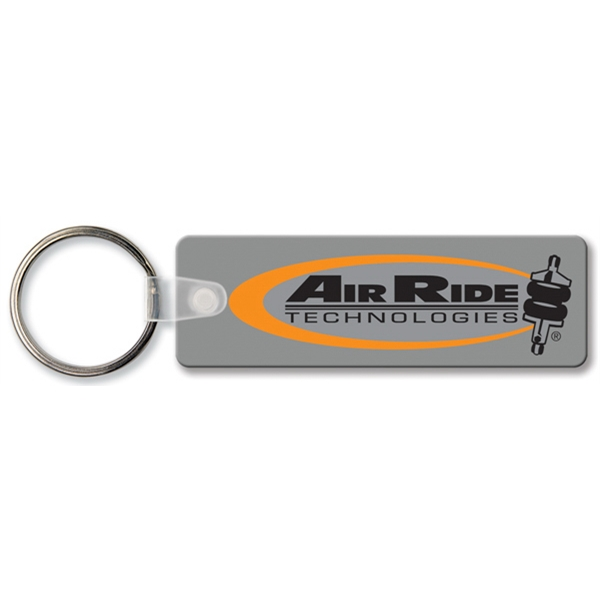 Personalized Key Tag - Rectangle with RC - Spot Color