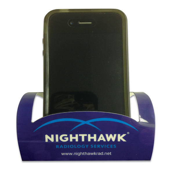 Printed Polyester Phone Holder - Rectangle - Full Color