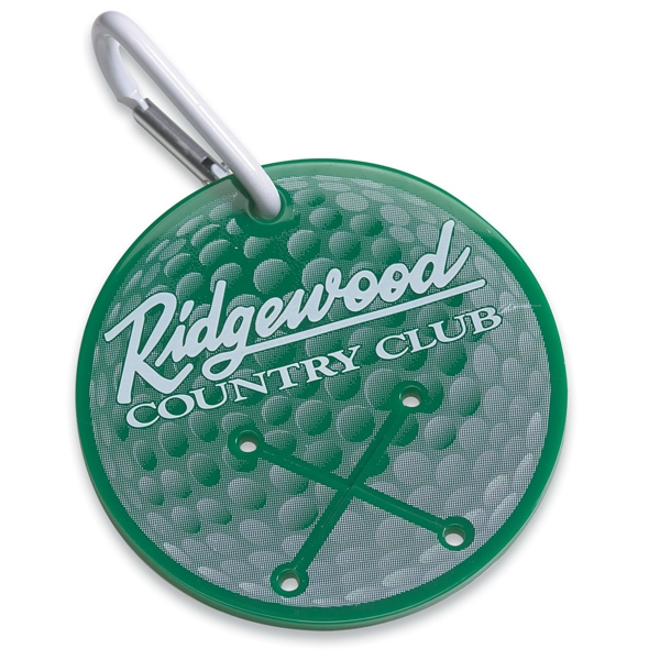 Customized Golf Towel Holder - Round - Spot Color