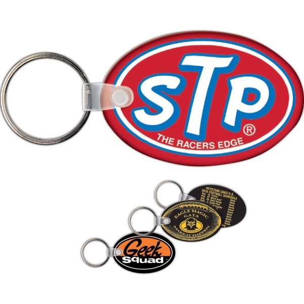 Printed Key Tag - Oval - Spot Color