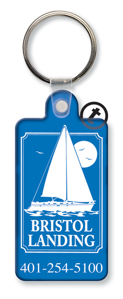 Printed Key Tag - Large Rectangle with RC & Tab - Spot Color