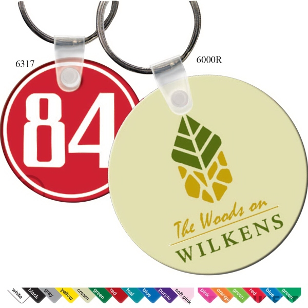 Promotional Key Tag - Small Round - Spot Color