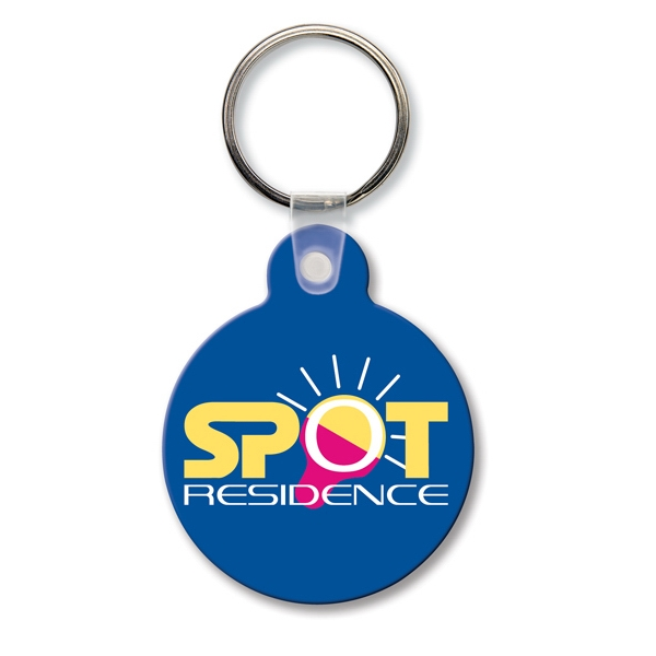 Printed Key Tag - Round w/Tab - Spot Color