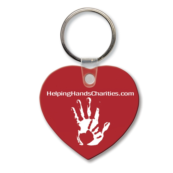 Custom Key Tag - Heart - Spot Color