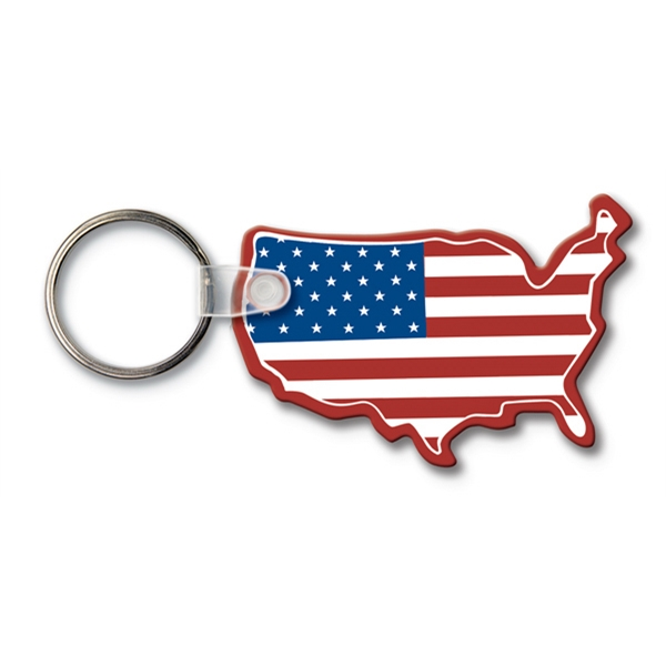 Custom Key Tag - USA - Spot Color