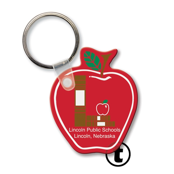 Personalized Key Tag - Apple - Spot Color
