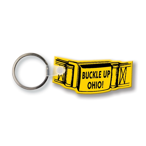 Custom Key Tag - Safety Belt - Spot Color