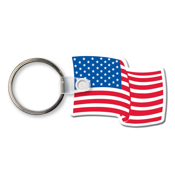 Printed Key Tag - Flag - Spot Color