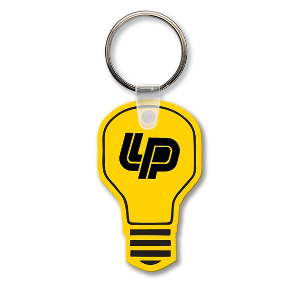 Imprinted Key Tag - Light Bulb - Spot Color