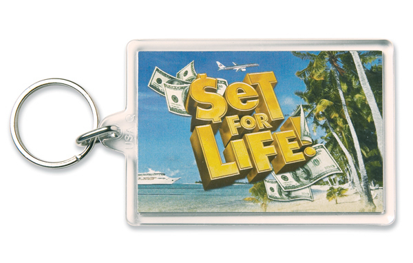 Personalized Key Tag - Large Rectangle - Full Color