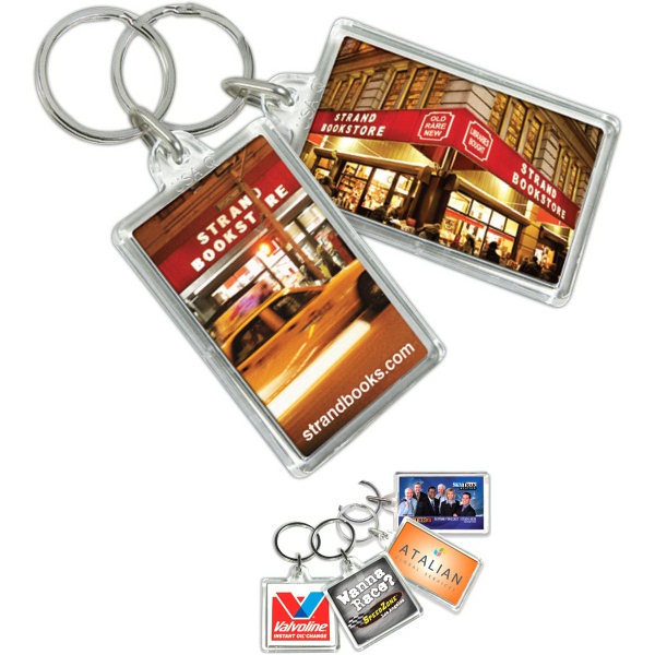 Printed Key Tag - Rectangle - Full Color