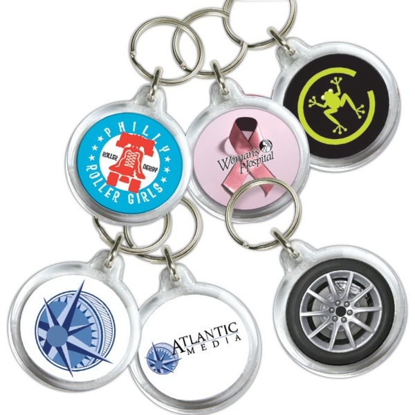Imprinted Key Tag - Round - Full Color