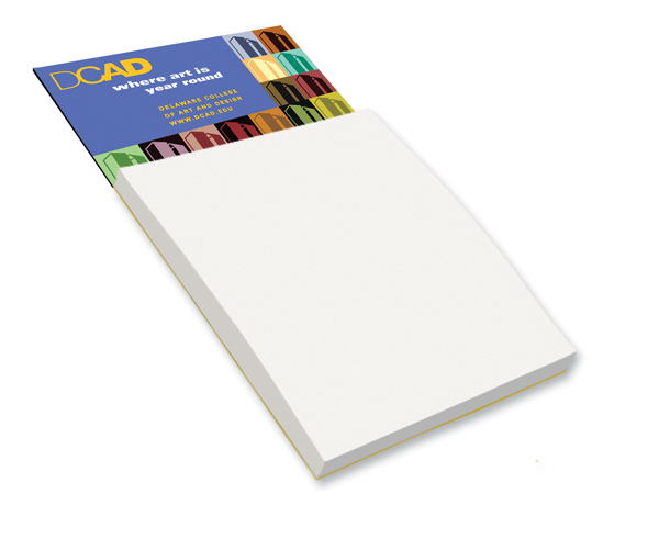 Imprinted Magnetic Note Pad - Blank Sheets - Full Color