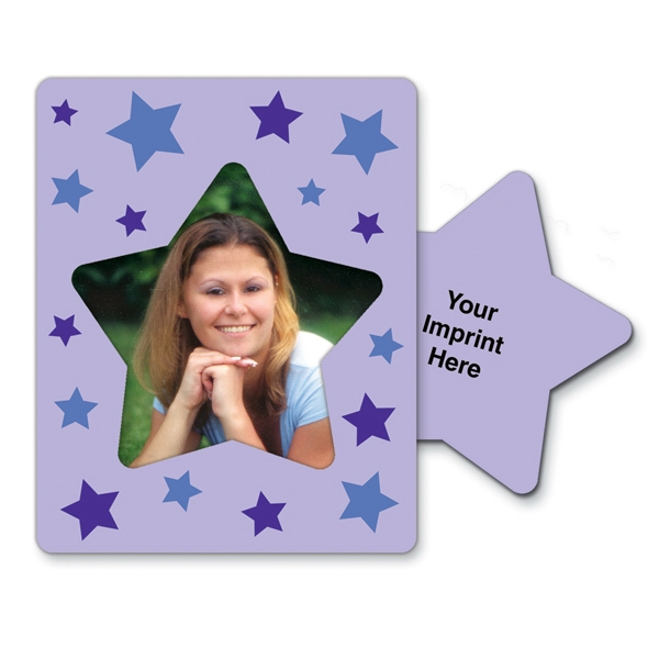 Imprinted Magnet 30 Mil - Star Center Rectangle - Full Color