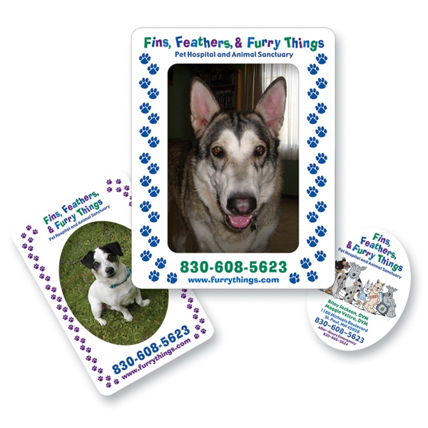 Personalized Magnet 30 Mil - 2- in-1 Rectangle - Full Color