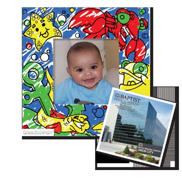 Imprinted Magnet - Coloring Picture Frame - Full Color