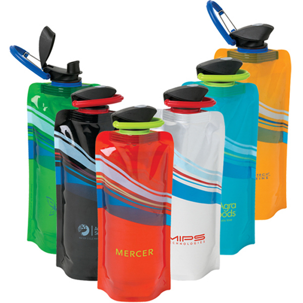 24 oz Cool Wave Foldable Water Bottle