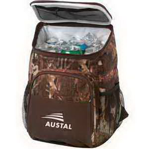Custom 12 Can Camo Backpack Cooler