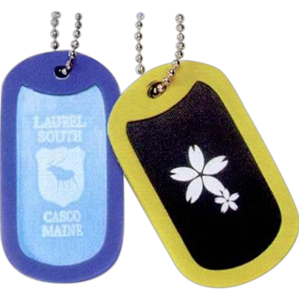 Printed Anodized Aluminum Dog Tag With Frame