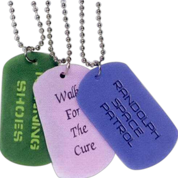 Customized Debossed Silicone Dog Tag