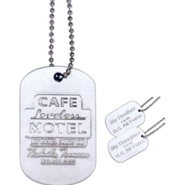 Personalized Embossed Aluminum Dog Tag