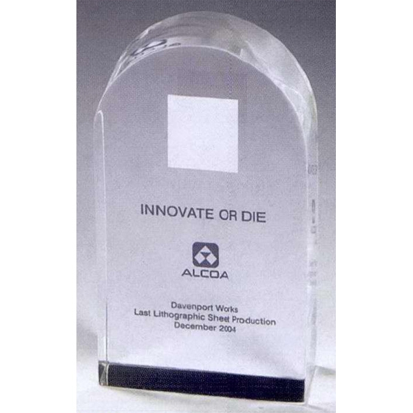 Printed Genuine Lucite (R) Tombstone Embedment