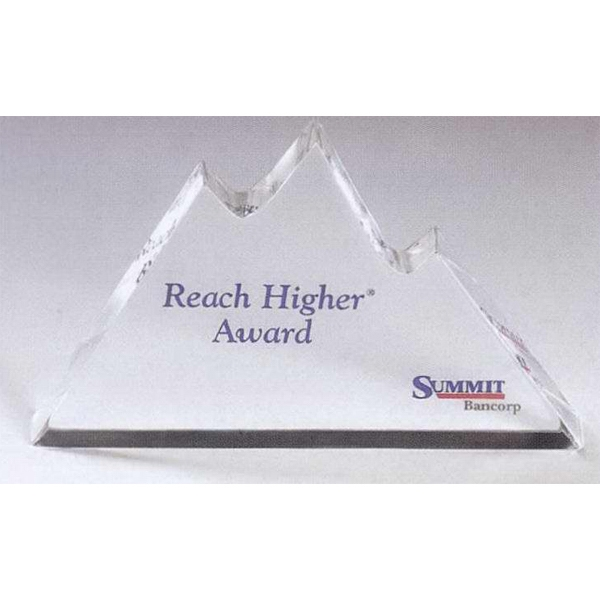 Promotional Genuine Lucite (R) Mountains Embedment