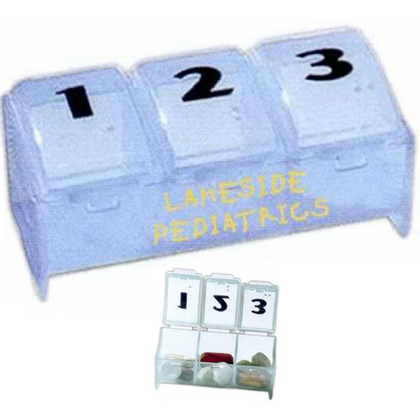 Personalized Three Compartment Pill Box