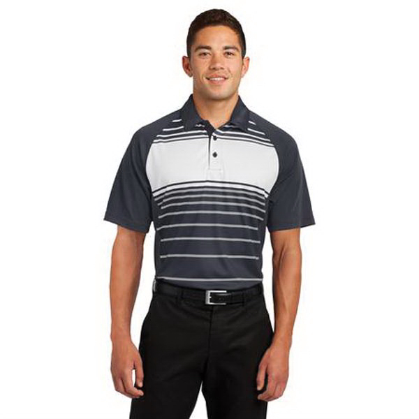 Sport-Tek (R) Dry Zone (R) Sublimated Stripe Polo