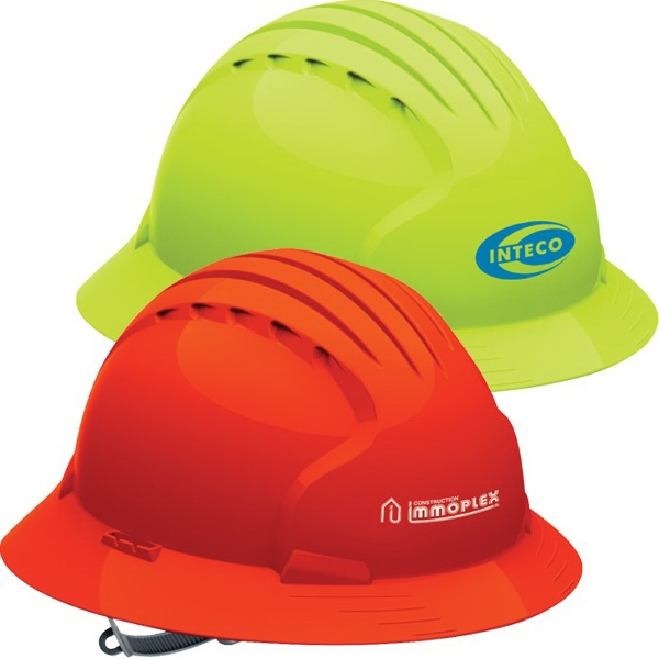 Imprinted Evolution (TM) 6141 Full Brim Hi-Vis Hard Hat