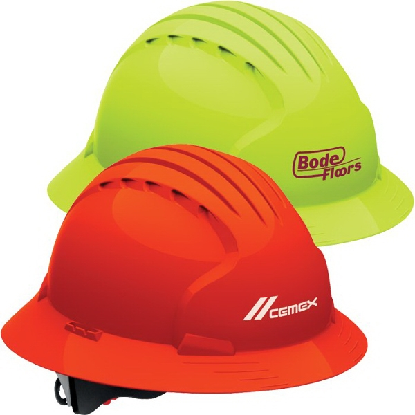 Imprinted Evolution (TM) 6161 Full Brim Hi-Vis Hard Hat