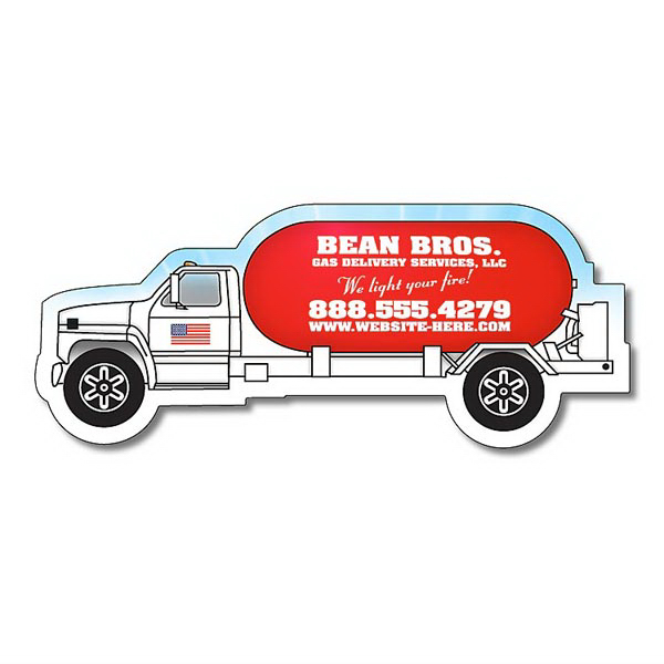 """Personalized Magnet - Propane Truck Shape (4.25"""" x1.75"""") - 20 mil"""