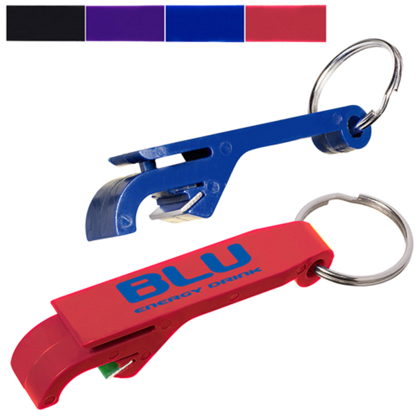 Personalized Bottle Opener Keychain Plastic