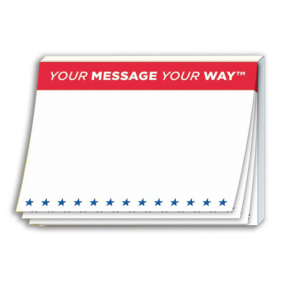 "Personalized Stik-ON (R) Adhesive Note Pad - 4"" x 3"""